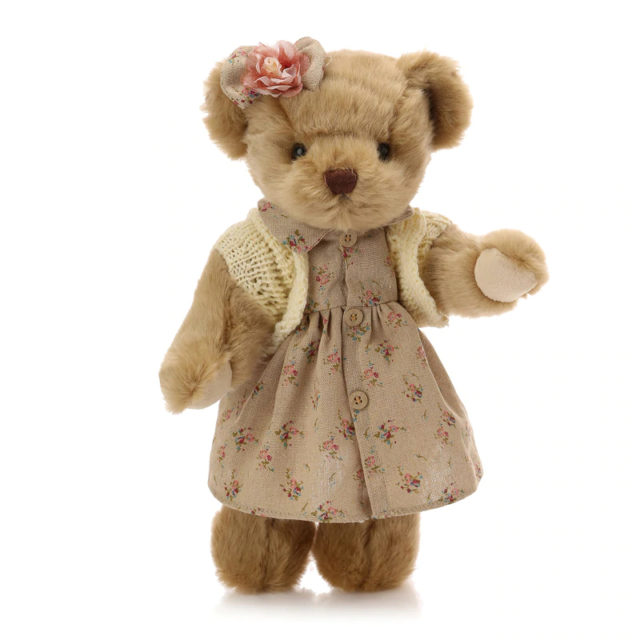 Cute Retro Teddy Bear Stuffed Toy 30 cm (3 Styles)