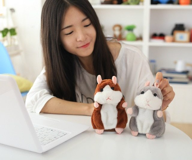 Talking Hamster Soft Toy 15 cm