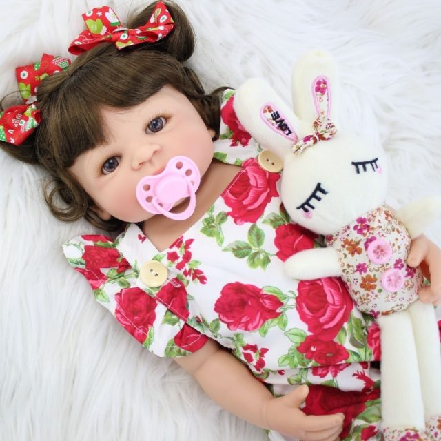 Captivating Reborn Baby Doll 55cm Full Silicone Body
