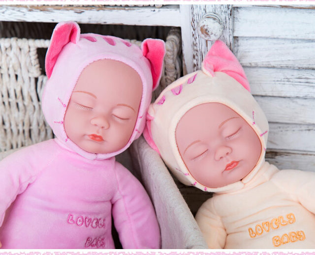 Cuddly Reborn Baby Doll Plush Stuffed Toy 35 cm